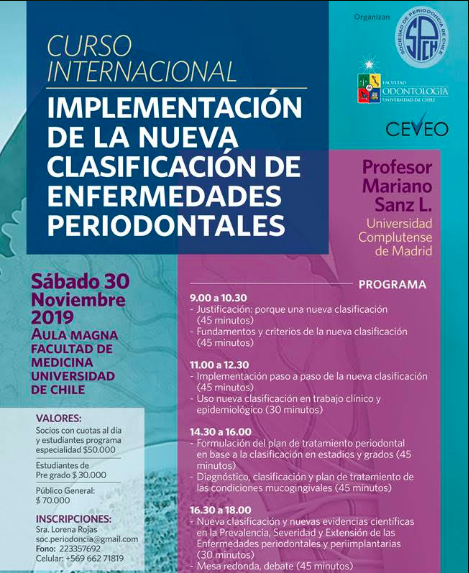 """Curso Implementación de la Nueva Clasificación de Enfermedades Periodontales"""