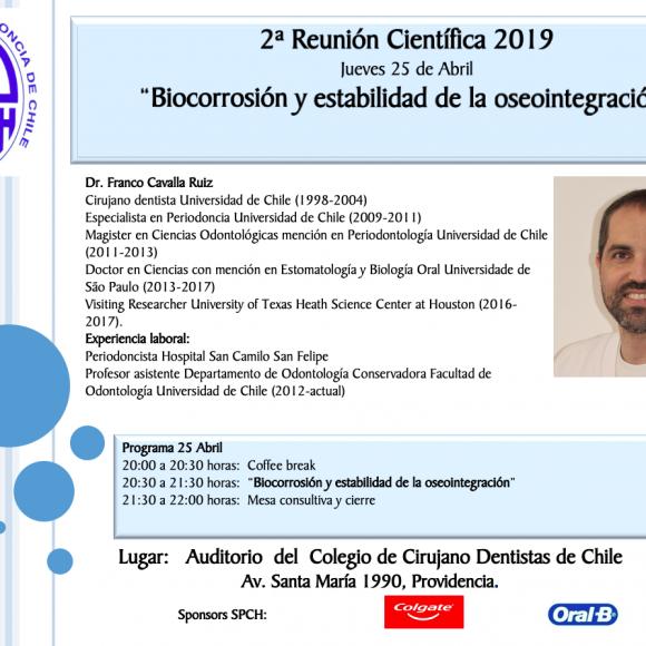 Segunda Reunión científica 2019