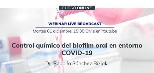 Control químico del biofilm oral en entorno  OVID-19